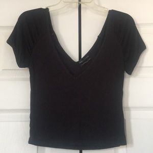 Urban Outfitters Cap Sleeve V-Neck Crop Top